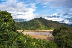 Ta-Bu, Son La, Vietnam royaltyfri foto