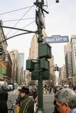 34ta calle del oeste en Manhattan Imágenes de archivo libres de regalías