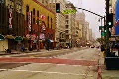 5ta calle Los Ángeles céntrico CA Imagen de archivo