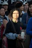 24ta ceremonia de la conmemoración del año de la masacre de la Plaza de Tiananmen Foto de archivo libre de regalías
