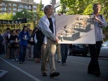 24ta ceremonia de la conmemoración del año de la masacre de la Plaza de Tiananmen Fotos de archivo libres de regalías