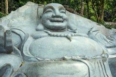 Happy Buddha in Linh Son Truong Tho pagoda on the mountain Ta Cu, Vietnam. TA CU, PHAN THIET, VIETNAM - November 07, 2017: Happy Buddha in Linh Son Truong Tho stock photo