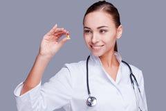 Ta denna preventivpiller! Royaltyfri Foto