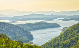 Ta Dung misty lake Royalty Free Stock Photos