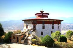 Ta Dzong, Bhutan Nationaal museum in Paro, Bhutan Royalty-vrije Stock Foto's