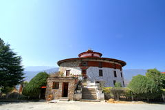 Ta Dzong, Bhutan nationellt museum på Paro, Bhutan royaltyfri fotografi