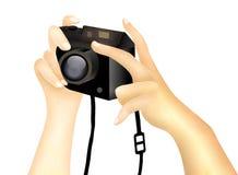 Ta en bild med en Digital kamera Fotografering för Bildbyråer