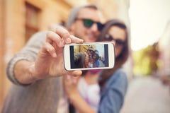 Ta en selfie Royaltyfria Bilder