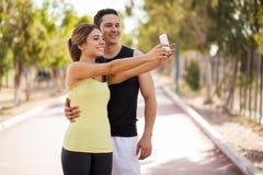 Ta en selfie, innan att öva Arkivbilder