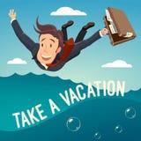 Ta en semester! arkivbild