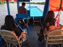 Ta en turnera på floden Royaltyfria Foton