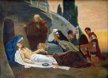 14ta estación de la cruz Imagen de archivo