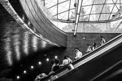 34ta estación de subterráneo de Hudson Yards de la calle Nueva York Fotos de archivo