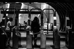 34ta estación de subterráneo de Hudson Yards de la calle Nueva York Imagenes de archivo