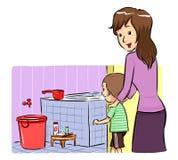 Ta ett bad Tid Royaltyfri Illustrationer
