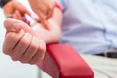 ta för bloddoktorsprövkopia Fotografering för Bildbyråer