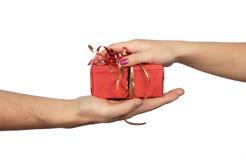 ta för gåva Fotografering för Bildbyråer
