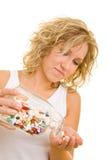 ta för många pills Royaltyfri Fotografi