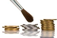ta för omsorgspengar Arkivfoton