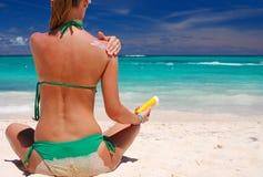 ta för sunbath Royaltyfri Fotografi
