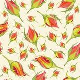 tła fashi kwiatów ornament bezszwowy Zdjęcia Royalty Free