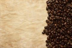 tła fasoli kawy kopii grunge przestrzeń Zdjęcie Royalty Free