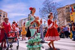 25ta FERIA INTERNACIONAL de los PUEBLOS en Fuengirola fotos de archivo