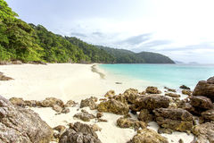 Ta Fook island. Is one of a relatively unspoilt,  800 islands in Mergi Archipelago in the South of Myanmar Stock Photos