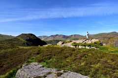 Ta foto på Eagle Crag arkivfoto
