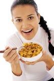 äta för cornflakes Fotografering för Bildbyråer