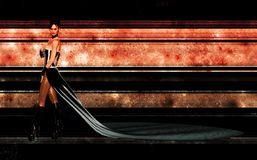 tła frontowa wysoka pomarańczowa techniki kobieta Obraz Royalty Free
