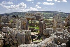 Ta Hagrat świątynia | głównego drzwi megalityczny estructure zdjęcie royalty free