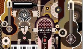 tła ilustracyjny muzyki wektor Zdjęcia Stock
