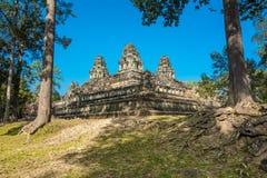 Ta Keo寺庙, Angkor地区,暹粒市,柬埔寨 免版税库存照片
