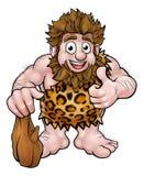 tła kreskówki caveman ilustracyjny biel Zdjęcie Stock