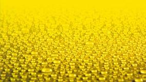 tła kropel wodny kolor żółty Obraz Stock