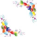 tła kwiecisty balonowy Fotografia Royalty Free