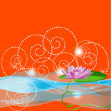 tła lila lelui pomarańcze woda Zdjęcie Royalty Free