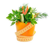taśm pomiarowi warzywa Obrazy Royalty Free