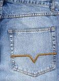 ta marka jeansów kieszeń Fotografia Royalty Free