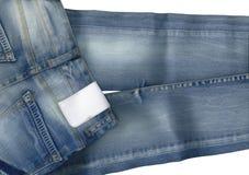 ta marka jeansów niebieski Fotografia Stock
