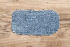 ta marka jeansów odizolowane łat tło białe Zdjęcie Stock