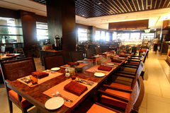 äta middag hotellrestaurang Royaltyfria Foton