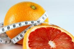 taśmy grapefruitowa miara Zdjęcia Stock