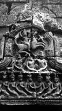 Ta Nei Temple in Angkor Archeological Park. Bas relief close up at the relatively unknown Ta Nei temple at Angkor Archeological Park in Siem Reap, Cambodia Stock Image