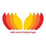 Ta omsorg av naturgas Arkivfoto