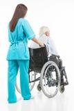 Ta omsorg av pensionärer. Arkivbilder