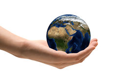 Ta omsorg jorden royaltyfria bilder