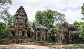 Ta phrom. Ankor wat style temple built in the second half of the 12th century in cambodia siem reap ankorian period stock photo