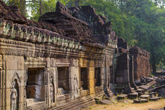 Ta phrom temple in angkor Stock Images